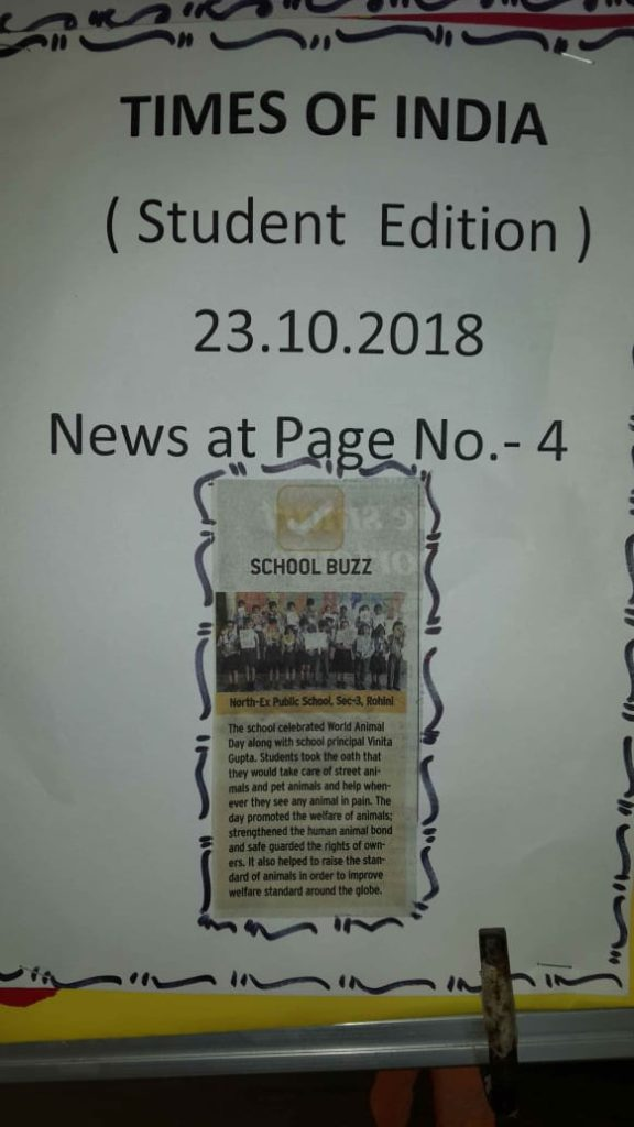 World Animal Day Celebration at North Ex Public School - News Coverage